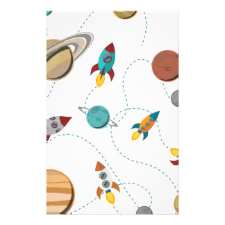 Guerras de la luna del aterrizaje del espacio de papelería personalizada