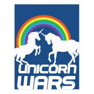 Guerras del unicornio con el arco iris postal