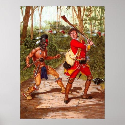 Guerrero de Huron, indio del nativo americano Poster