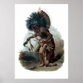Guerrero de Moenitarri del vintage en traje Póster