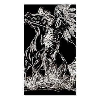guerrero del fantasma tarjetas de visita
