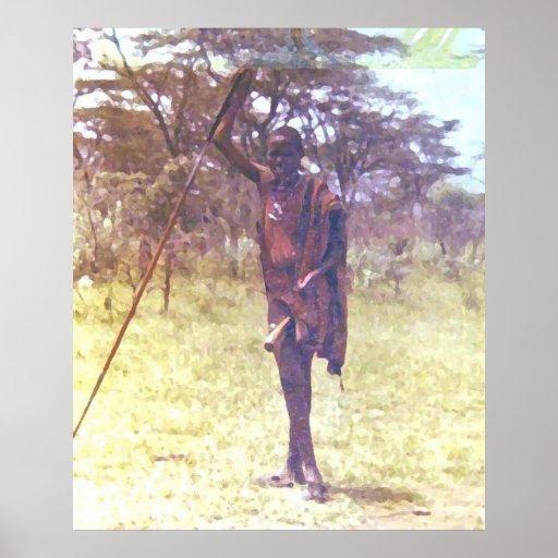 Guerrero del Masai Posters