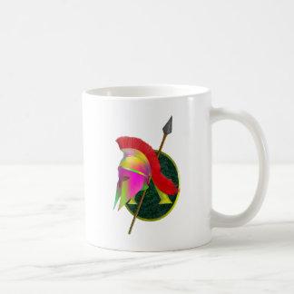 Guerrero espartano colorido taza de café