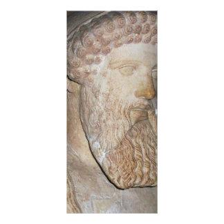 Guerrero espartano del griego clásico lona publicitaria