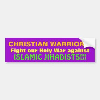 ¡GUERREROS CRISTIANOS! PEGATINA PARA COCHE