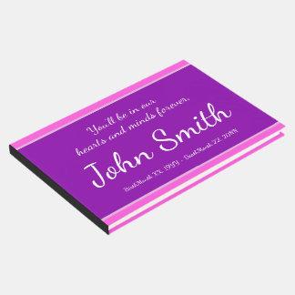 Guestbook conmemorativo elegante, personalizado libro de invitados