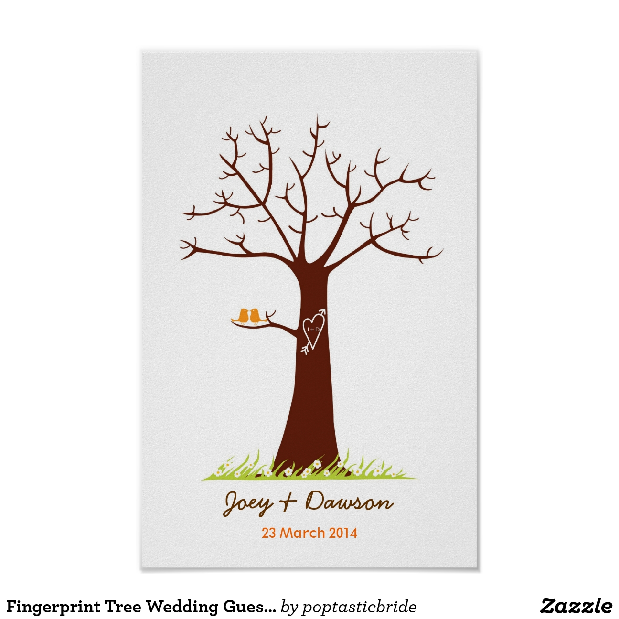Arte del árbol de la boda