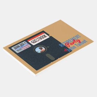 Guestbook del disco blando del fiesta de retiro libro de invitados
