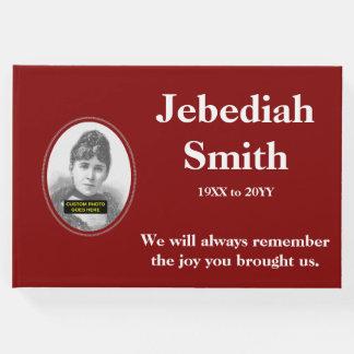 Guestbook elegante y minimalista de la condolencia libro de visitas