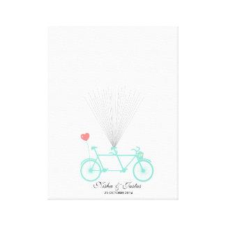 Guestbook en tándem del globo de la bicicleta de impresión en lienzo
