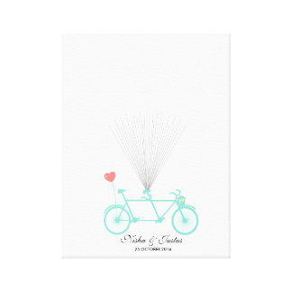 Guestbook en tándem del globo de la bicicleta de impresión en lienzo estirada