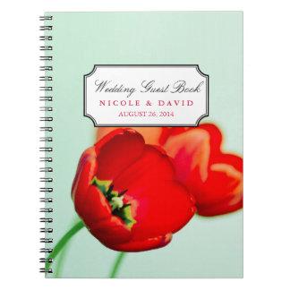 Guestbook floral del boda del bokeh de la menta de libro de apuntes