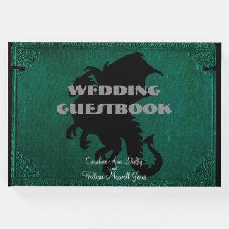 Guestbook medieval del boda del vintage de la libro de visitas