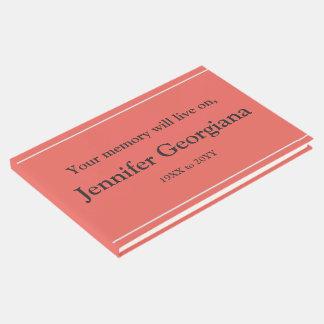 Guestbook mínimo y respetable de las condolencias libro de invitados