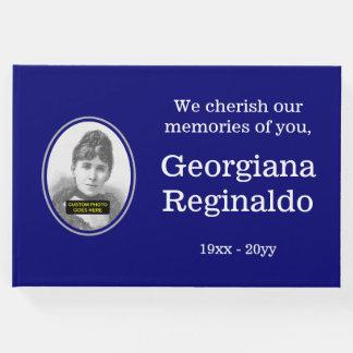 Guestbook respetable, básico de las condolencias libro de invitados