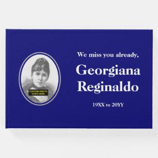 Guestbook respetable, minimalista de las libro de invitados