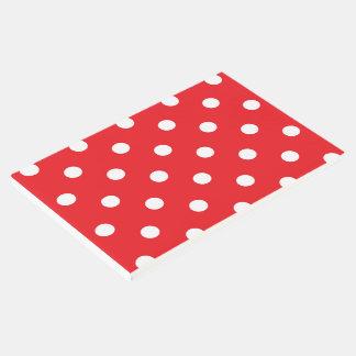 Guestbook/rojo con los puntos 60s libro de visitas