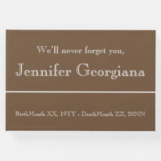 Guestbook simple y minimalista de las condolencias libro de visitas