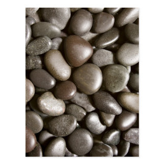 Guijarro negro del zen de la naturaleza de la roca postal