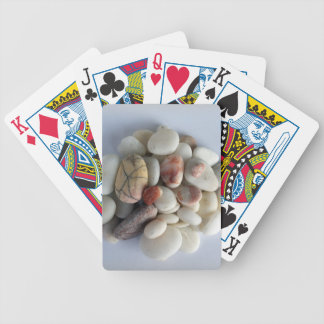 guijarros blancos baraja de cartas bicycle