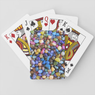 Guijarros multicolores coloridos barajas de cartas