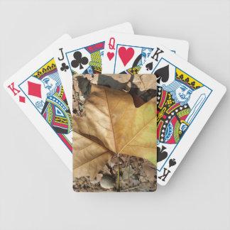 guijarros y hojas baraja de cartas bicycle