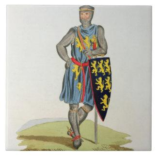 Guillermo de Longuespee, 3ro conde de Salisbury (d Azulejo Cerámica