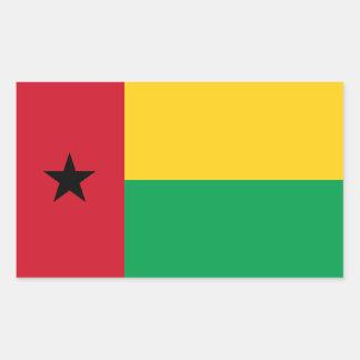 Guinea-Bissau/bandera de Bissauan Pegatina Rectangular