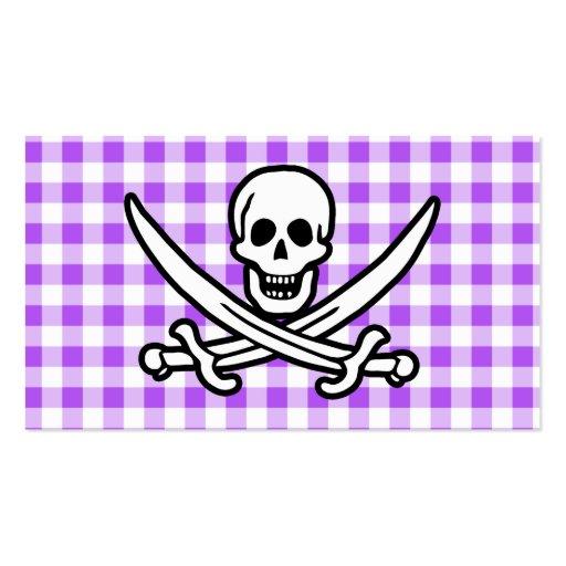 Guinga a cuadros púrpura Rogelio alegre Tarjeta De Negocio
