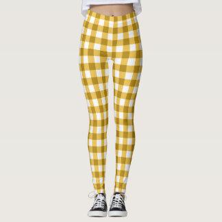 Guinga amarilla y blanca comprobada leggings