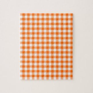 Guinga anaranjada y blanca puzzle