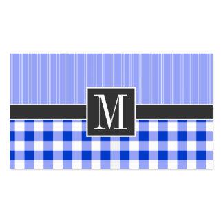 Guinga azul elegante; A cuadros Tarjeta De Visita