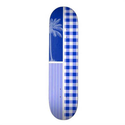 Guinga azul tropical patín personalizado