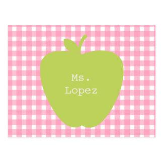 Guinga rosada y profesor verde de Apple Postal