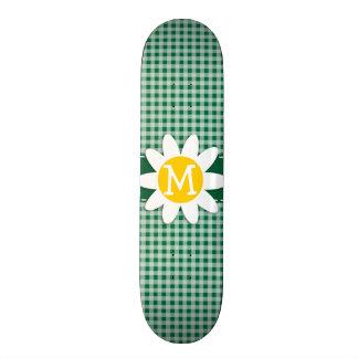Guinga verde del cadmio; A cuadros; Margarita Patines Personalizados