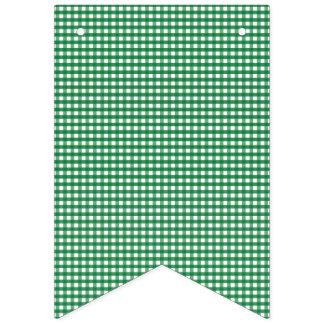 Guinga verde y blanca banderines