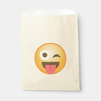 Guiño de la lengua Emoji Bolsa De Papel