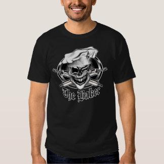 Guiño del cráneo del cocinero camiseta