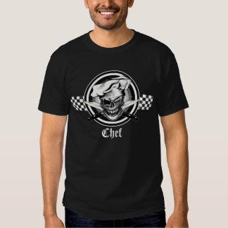 Guiño del cráneo del cocinero camisetas