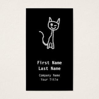 Guiño del gato gris tarjeta de negocios