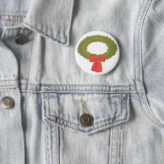 Guirnalda con el botón rojo del arco