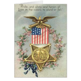 Guirnalda de Eagle de la medalla de la guerra civi Felicitación