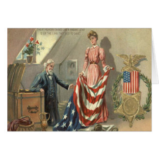Guirnalda de Eagle de la medalla de la guerra civi Felicitacion