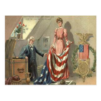 Guirnalda de Eagle de la medalla de la guerra civi Postal
