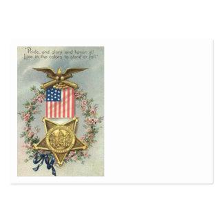 Guirnalda de Eagle de la medalla de la guerra civi Plantilla De Tarjeta De Negocio