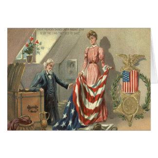 Guirnalda de Eagle de la medalla de la guerra Tarjeta De Felicitación