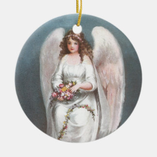 Guirnalda de la flor del ángel de Pascua del Adorno Redondo De Cerámica