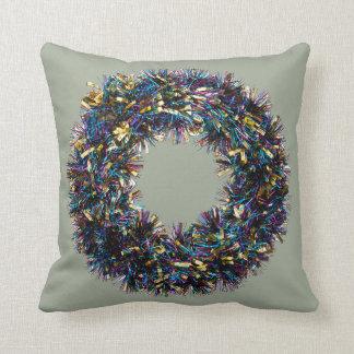 Guirnalda de la malla - decoración del navidad cojín