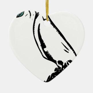 guirnalda de la paloma de la paz adorno navideño de cerámica en forma de corazón
