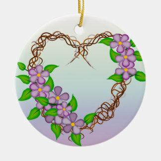 Guirnalda de la vid de las flores de la púrpura adorno de reyes